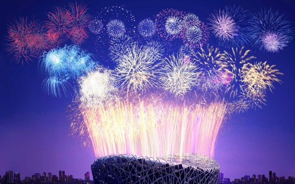 Photography Fireworks Night Stadium Colors Rio de Janeiro Brazil Building HD Wallpaper | Background Image