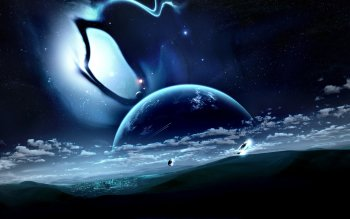 Science-Fiction - Planetenaufgang Wallpapers and Backgrounds ID : 82726