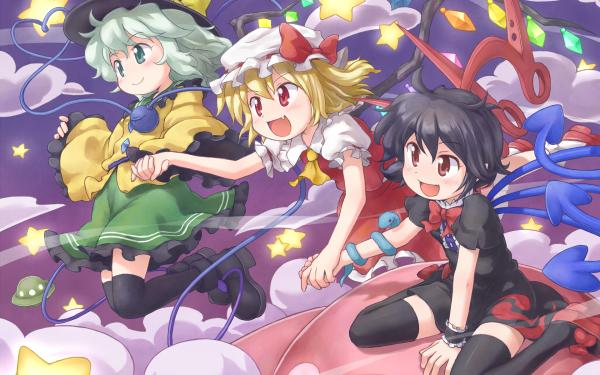 Anime Touhou Flandre Scarlet Koishi Komeiji Nue Houjuu HD Wallpaper   Background Image