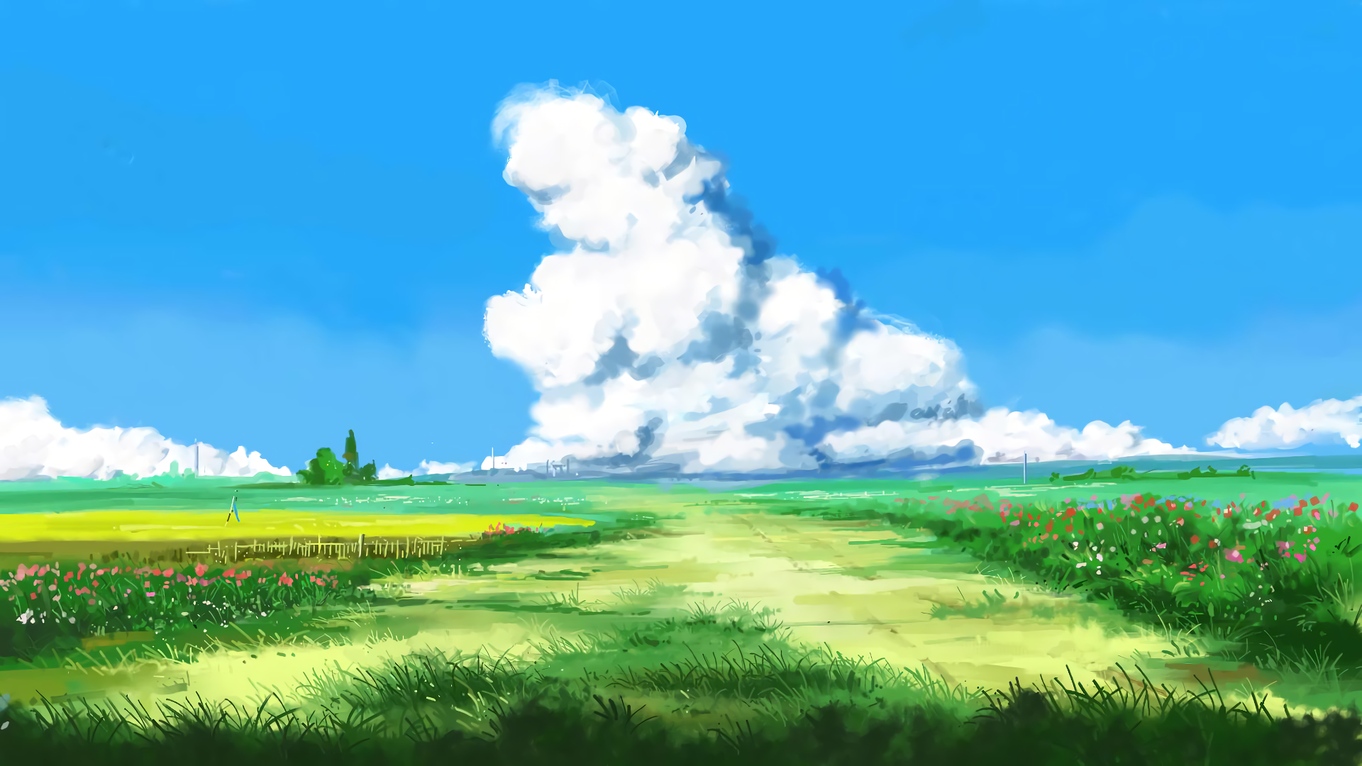 Anime - Original  Artwork Anime Original (Anime) Field Wallpaper