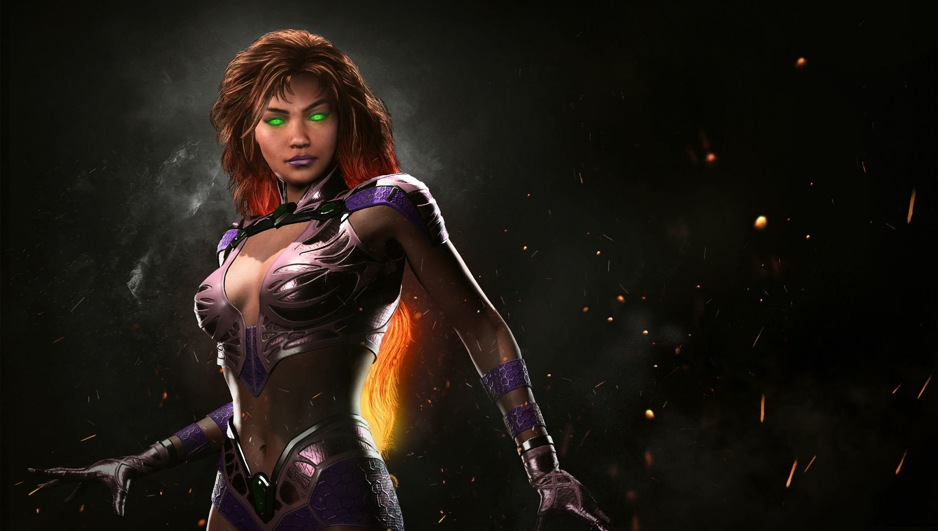 starfire full hd wallpaper and background image