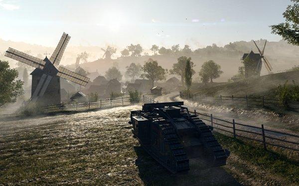 Video Game Battlefield 1 Battlefield Tank Windmill HD Wallpaper | Background Image