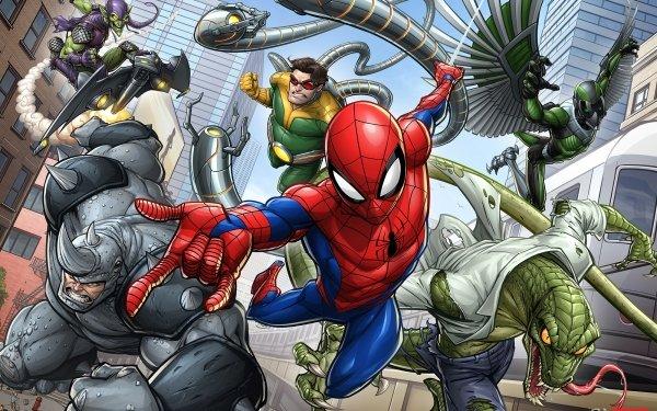 Comics Spider-Man Marvel Comics Doctor Octopus Green Goblin Rhino Lizard HD Wallpaper | Background Image