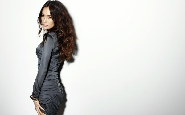 Celebrity Maggie Q Actresses United States Actress Brunette Brown Eyes Dress HD Wallpaper | Background Image