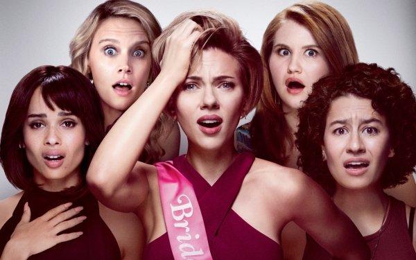 Movie Rough Night Scarlett Johansson Kate McKinnon Zoë Kravitz Jillian Bell Ilana Glazer HD Wallpaper | Background Image