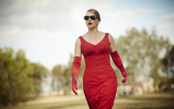 Movie The Dressmaker Kate Winslet Red Dress Sunglasses HD Wallpaper   Background Image