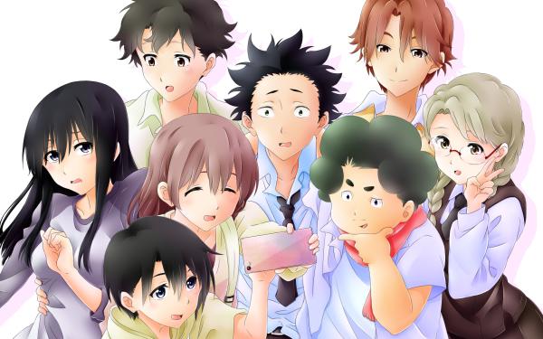 Anime Koe No Katachi Shouko Nishimiya Shouya Ishida Miki Kawai Yuzuru Nishimiya Tomohiro Nagatsuka Naoka Ueno Miyoko Sahara HD Wallpaper | Background Image