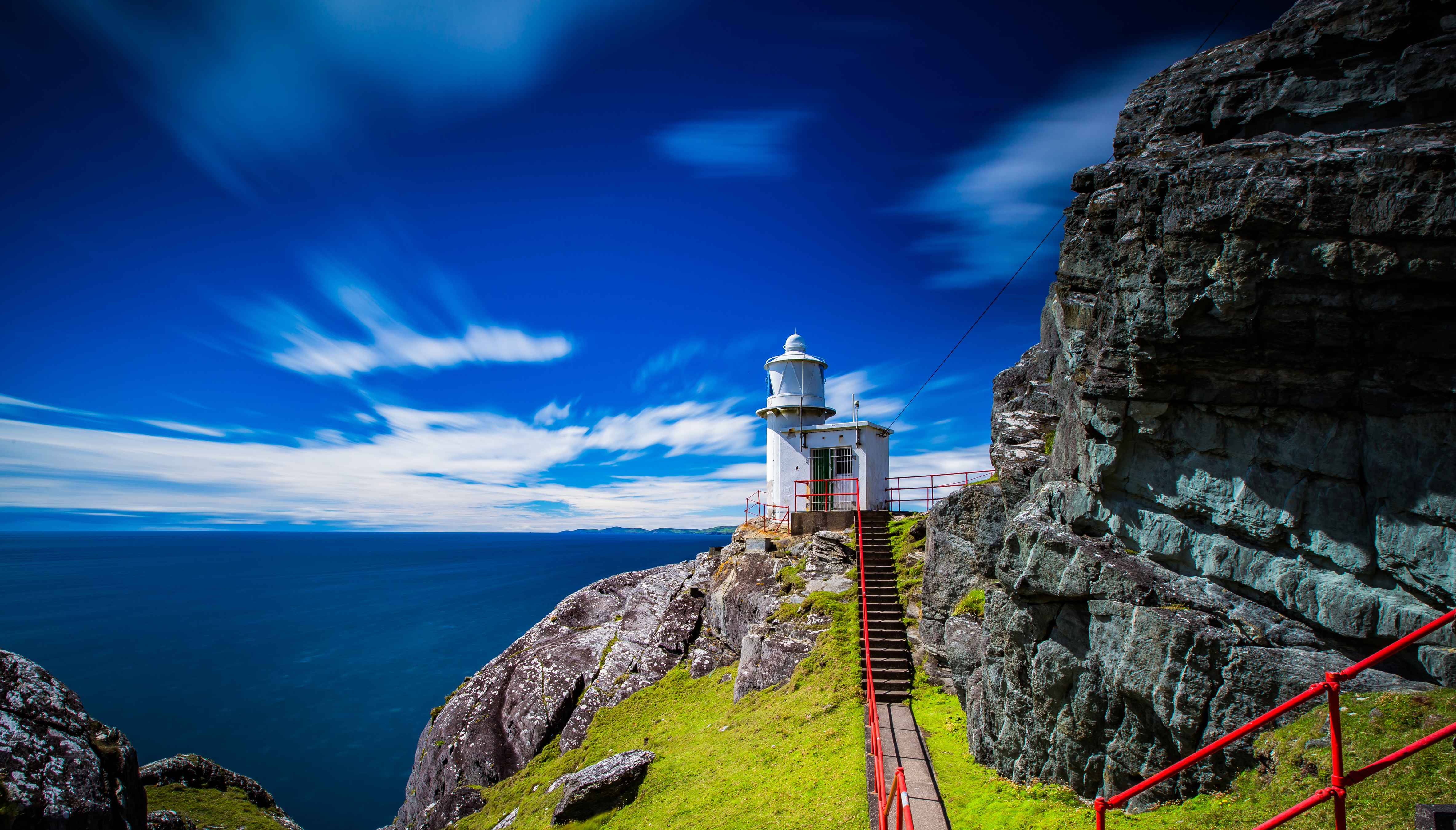 Sheep's Head Lighthouse on Tooreen Island in Ireland 4k ...