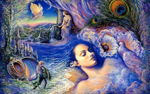 Artistic Fantasy Mermaid Sleeping HD Wallpaper | Background Image