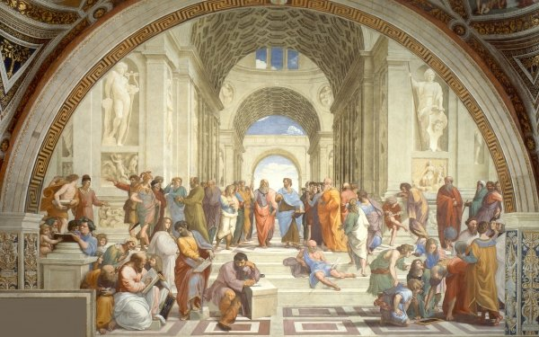 Artistic Painting Socrates Greece The School of Athens HD Wallpaper | Background Image
