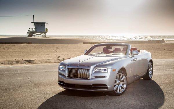 Véhicules Rolls-Royce Dawn Rolls Royce Plage Voiture Silver Car Luxury Car Grand Tourer Rolls-Royce Fond d'écran HD   Image