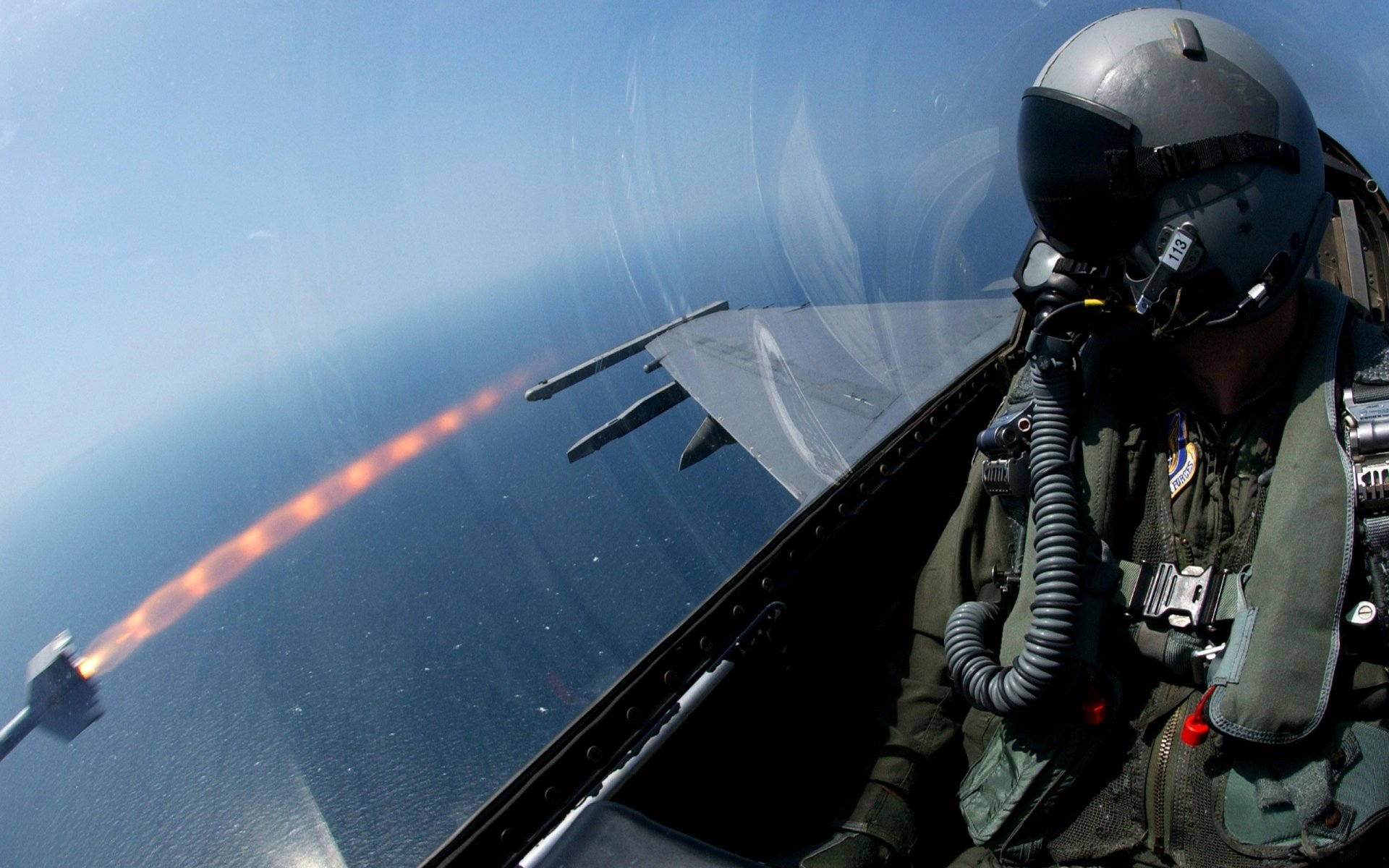 Military - Aircraft  Missile Pilot Military Wallpaper