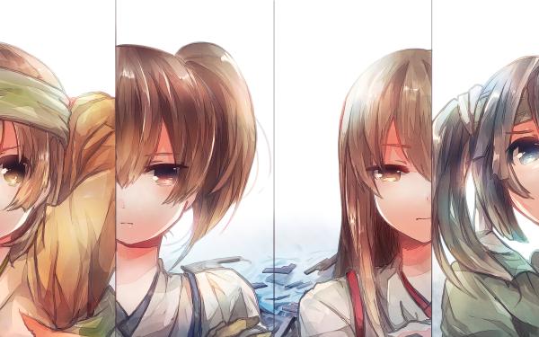 Anime Kantai Collection Kaga Akagi Souryuu Hiryuu HD Wallpaper | Background Image