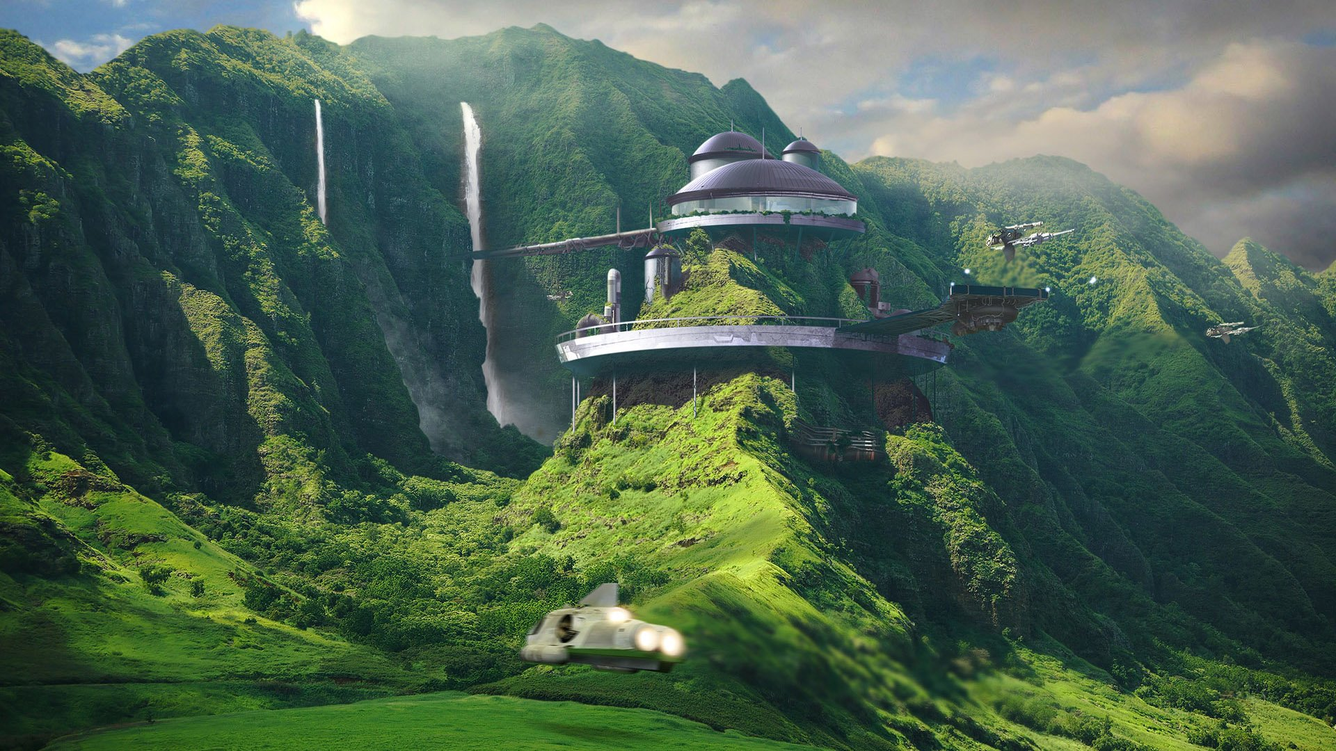 Sci Fi - Landscape  House Sci Fi Wallpaper