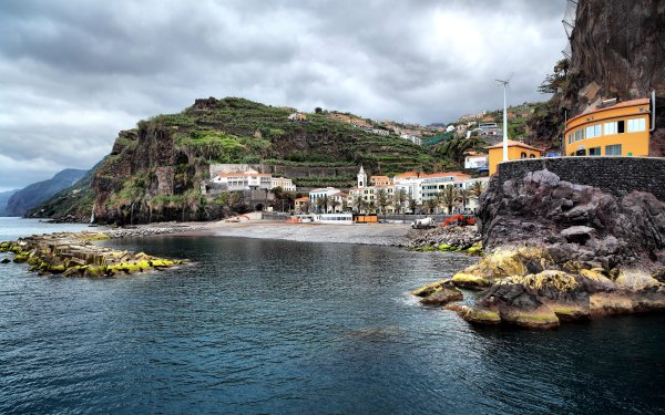 Man Made Village City Water Ponta Do Sol Portugal HD Wallpaper | Background Image
