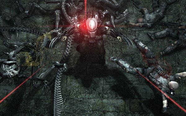 Videospel Aliens Vs. Predator Alien Predator Strijd HD Wallpaper | Achtergrond