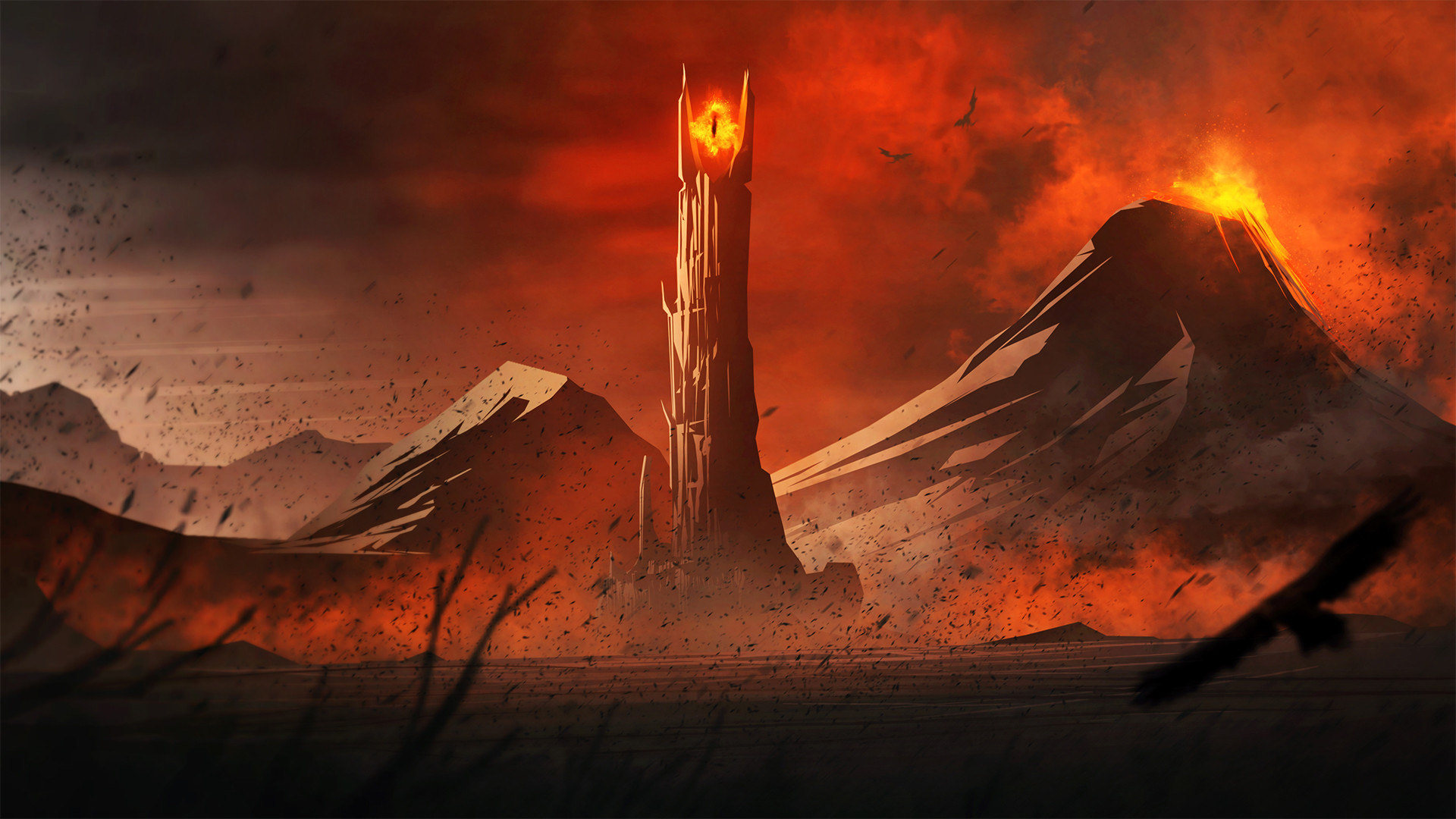 Lord Of The Rings Mountain Eye Of Sauron