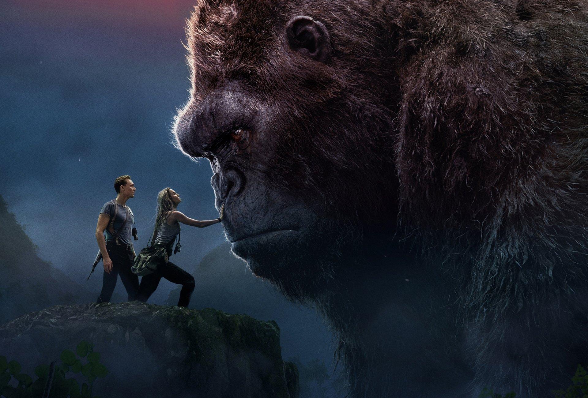 Movie - Kong: Skull Island  King Kong Brie Larson Tom Hiddleston Wallpaper