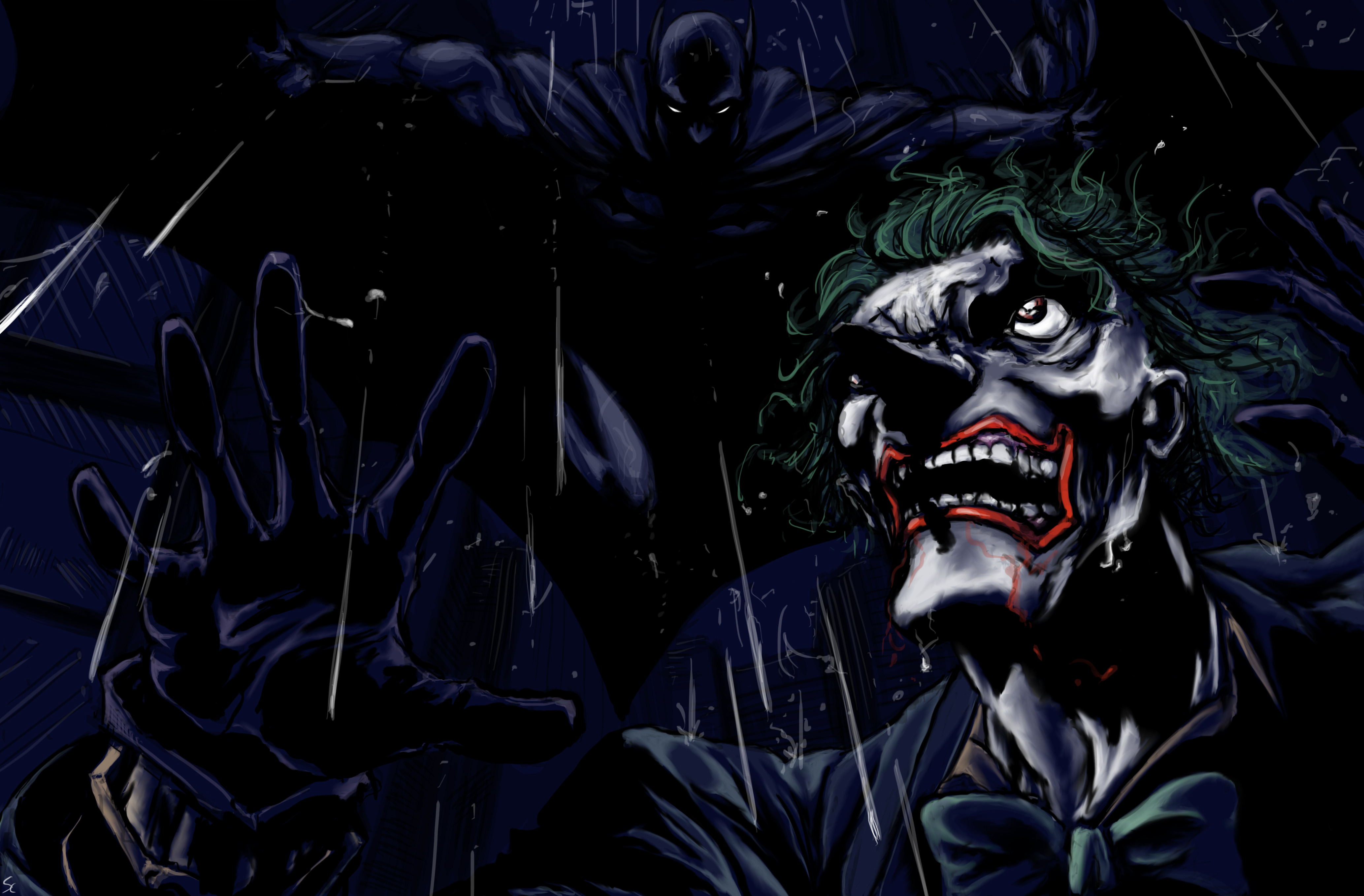 Batman 4k ultra hd wallpaper and background image for Joker wallpaper 4k