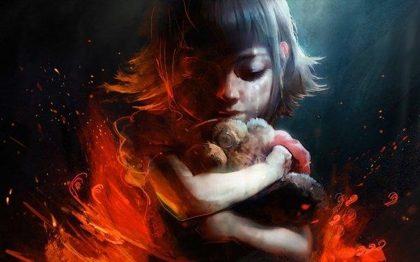 Videojuego League Of Legends Chica Little Girl Sad Crying Peluche Annie Short Hair Fondo de pantalla HD | Fondo de Escritorio