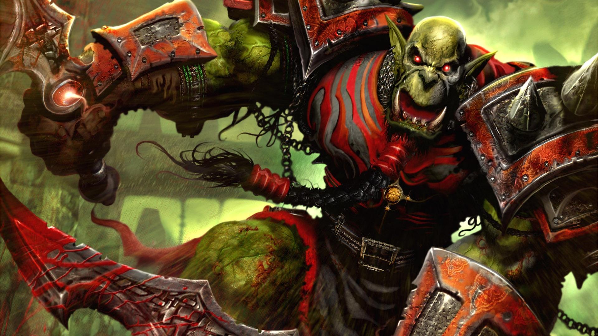 Videojuego - World Of Warcraft  World Warcraft Orc Guerrero Fondo de Pantalla