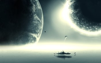 Science-Fiction - Planetenaufgang Wallpapers and Backgrounds ID : 84486