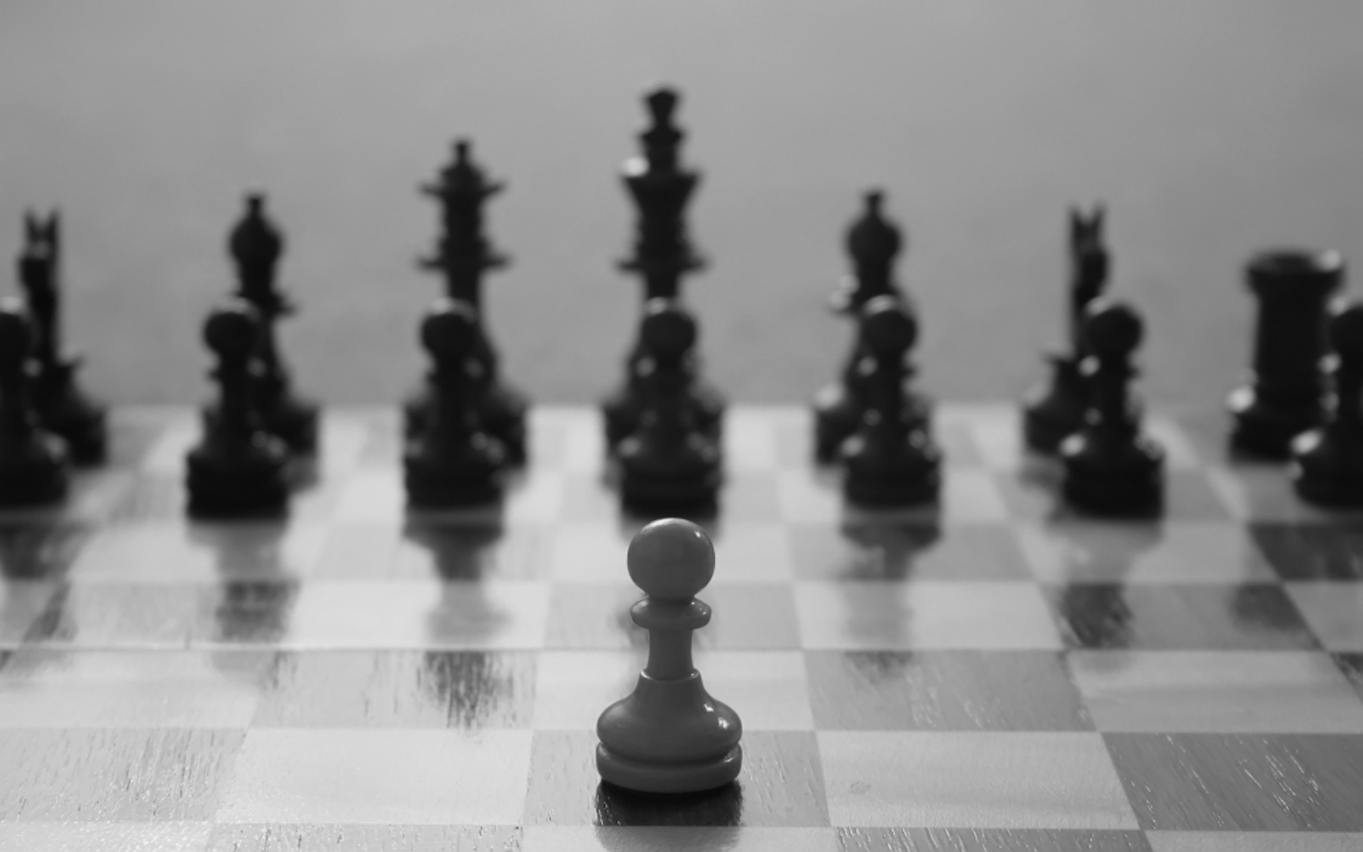 Game - Chess  Game Pawn Black White Wallpaper