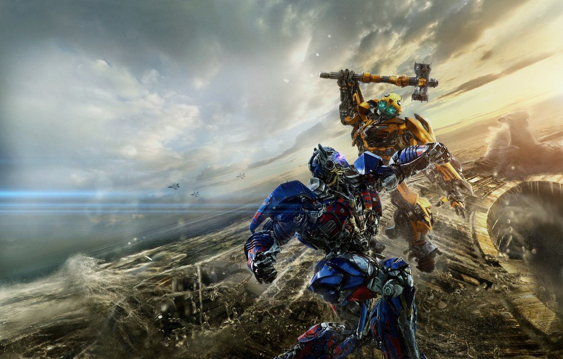 Movie - Transformers: The Last Knight  Optimus Prime Bumblebee (Transformers) Wallpaper