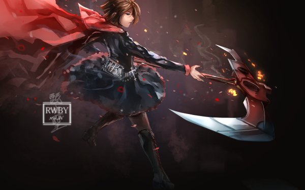 Anime RWBY Ruby Rose HD Wallpaper | Background Image