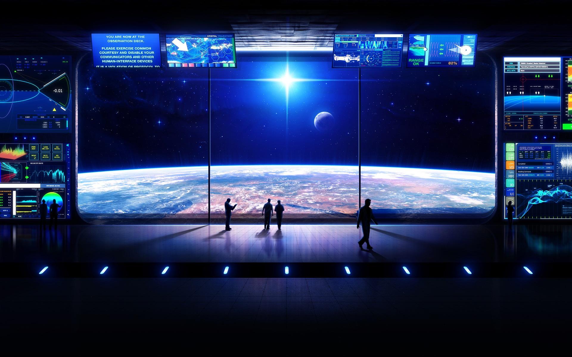 single person bridge sci fi spacecraft - photo #28