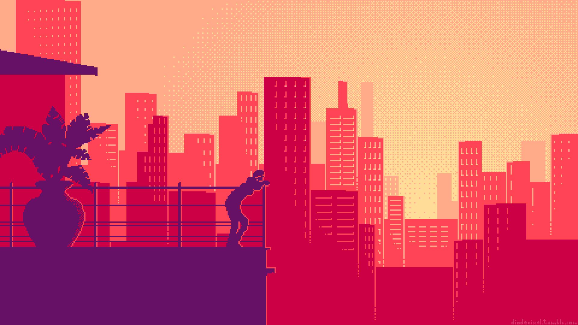 Pixel Art HD Wallpaper