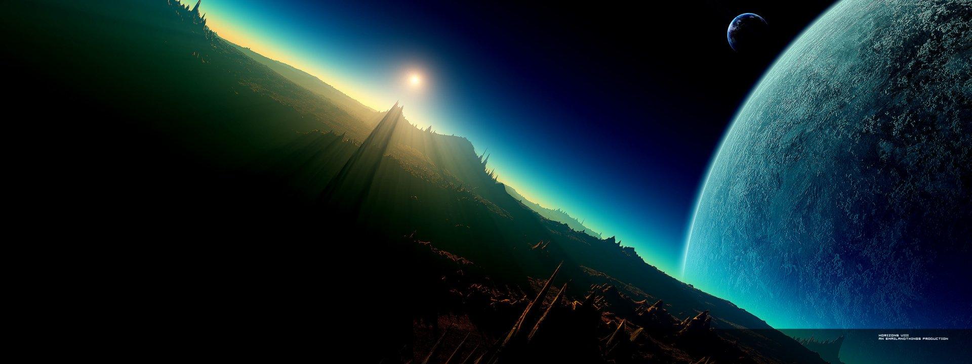 Multi Monitor - Sci Fi  Planet Monitor Wallpaper