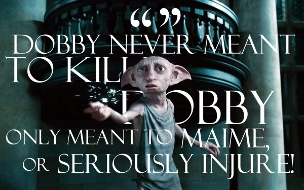 Movie Harry Potter and the Deathly Hallows: Part 1 Harry Potter Dobby Quote HD Wallpaper   Background Image