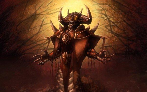 Dark Demon Fantasy HD Wallpaper   Background Image