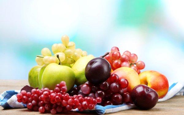 Food Fruit Fruits Grapes Apple Nectarine HD Wallpaper   Background Image