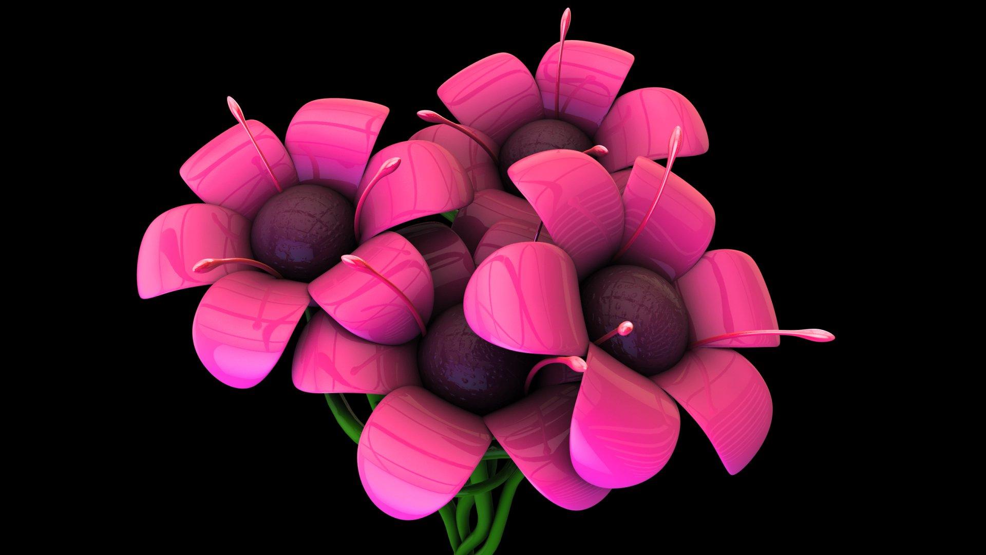 Image de Synthèse - Cool  Plante Fleur Fond d'écran