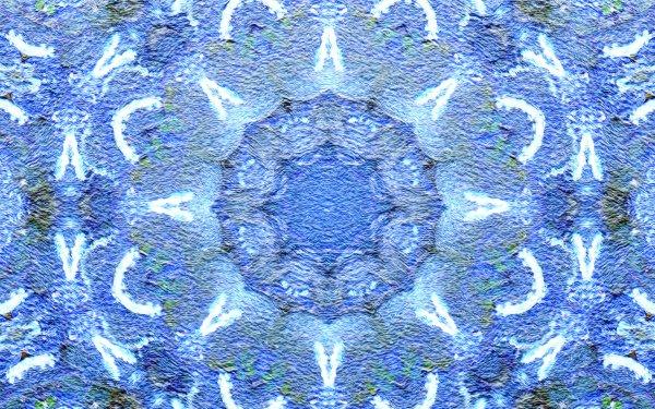 Abstract Pattern Artistic Digital Art Mandala Manipulation Mosaic Blue HD Wallpaper | Background Image