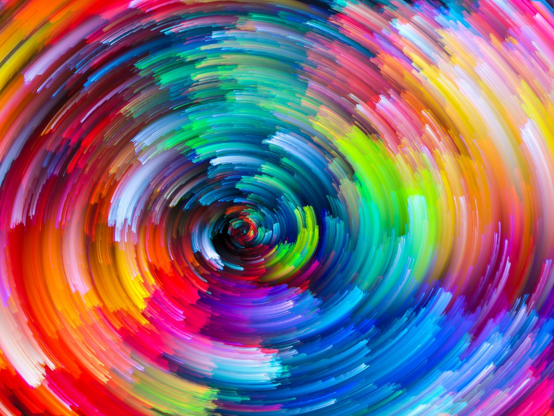 Abstract - Colors  Artistic Rainbow Colorful Vortex Wallpaper