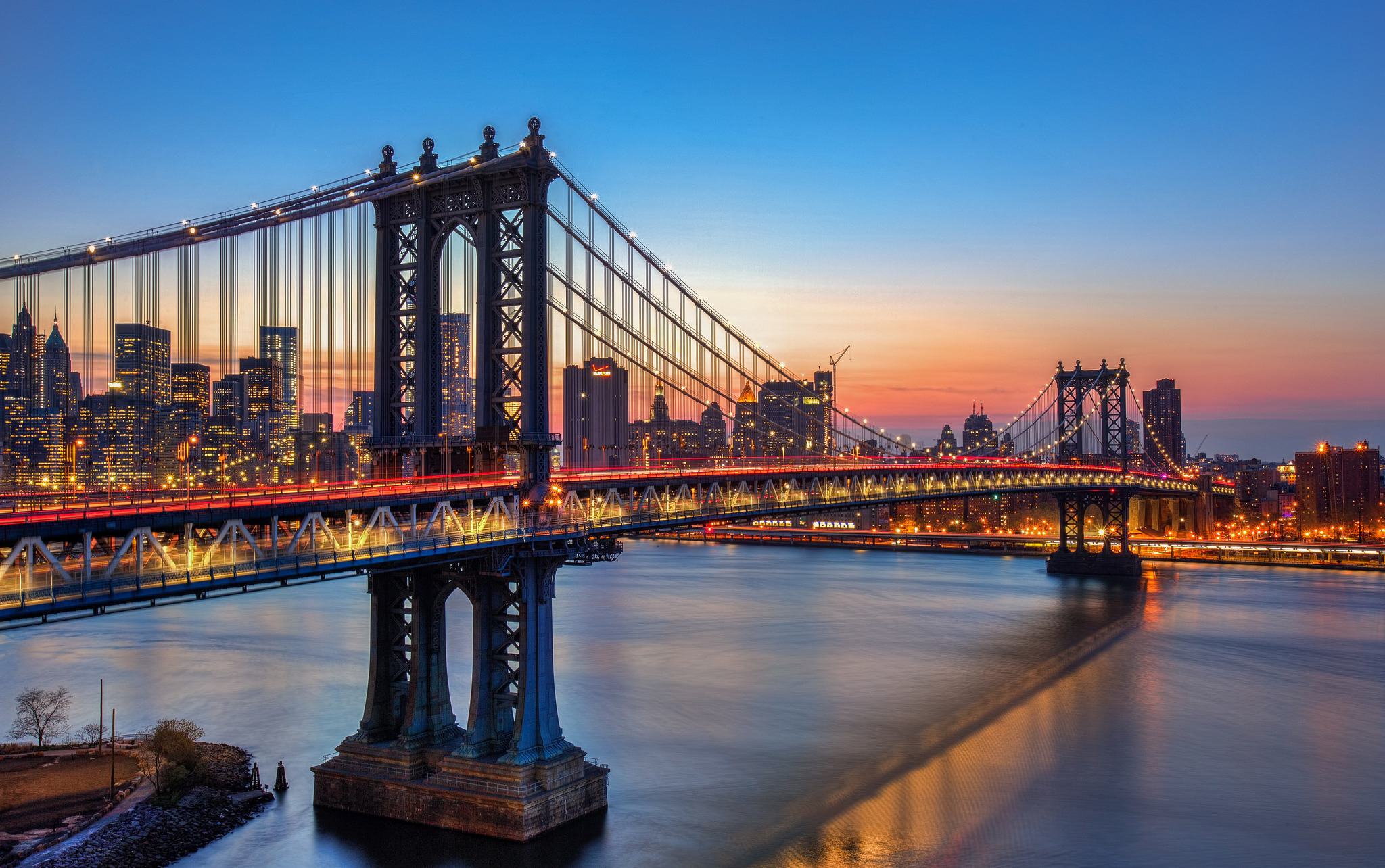 Manhattan bridge full hd wallpaper and background image for Immagini new york hd