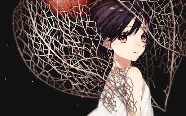 Anime Original Orange Eyes Dress Girl Short Hair HD Wallpaper | Background Image