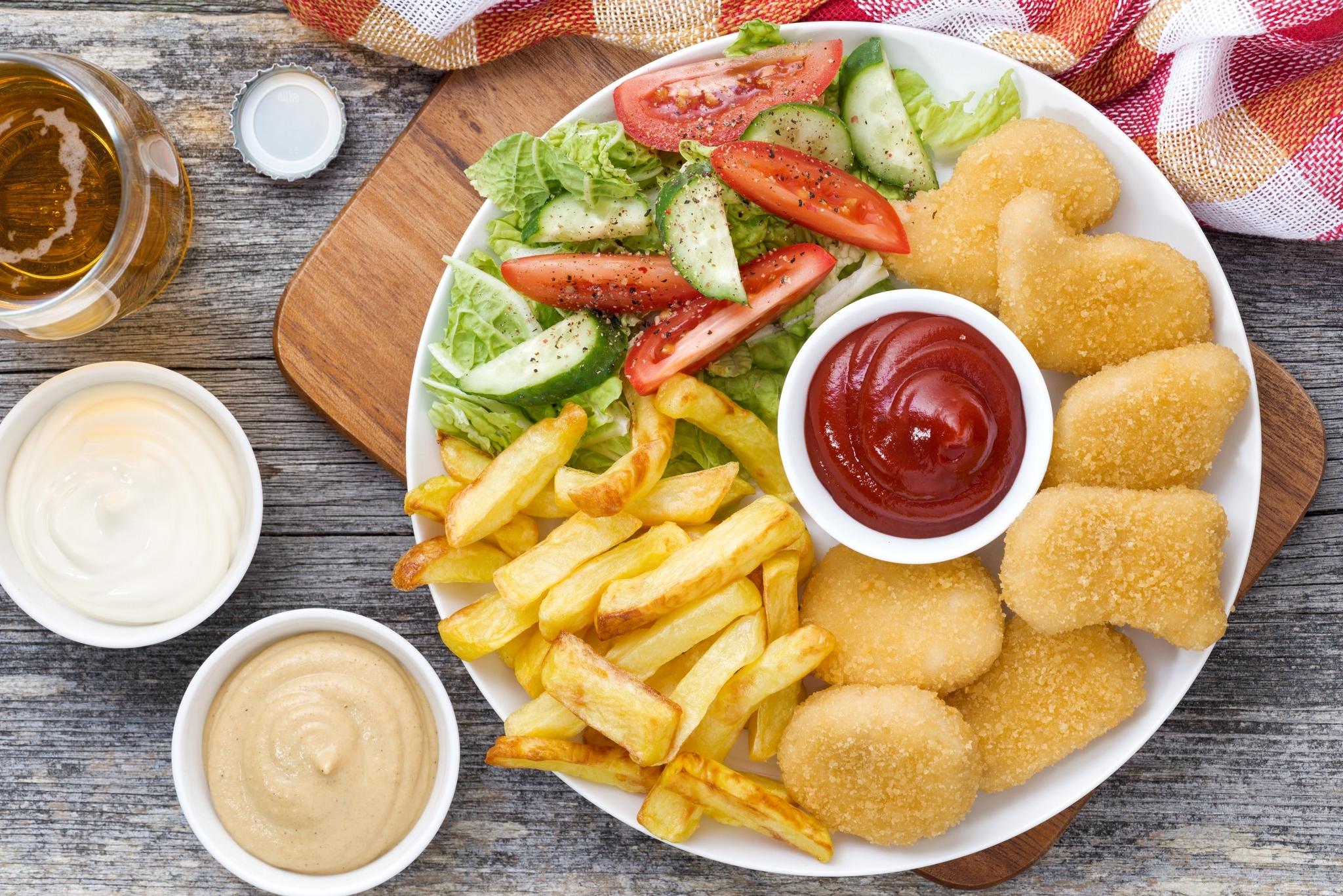 еда котлеты картошка салат бесплатно