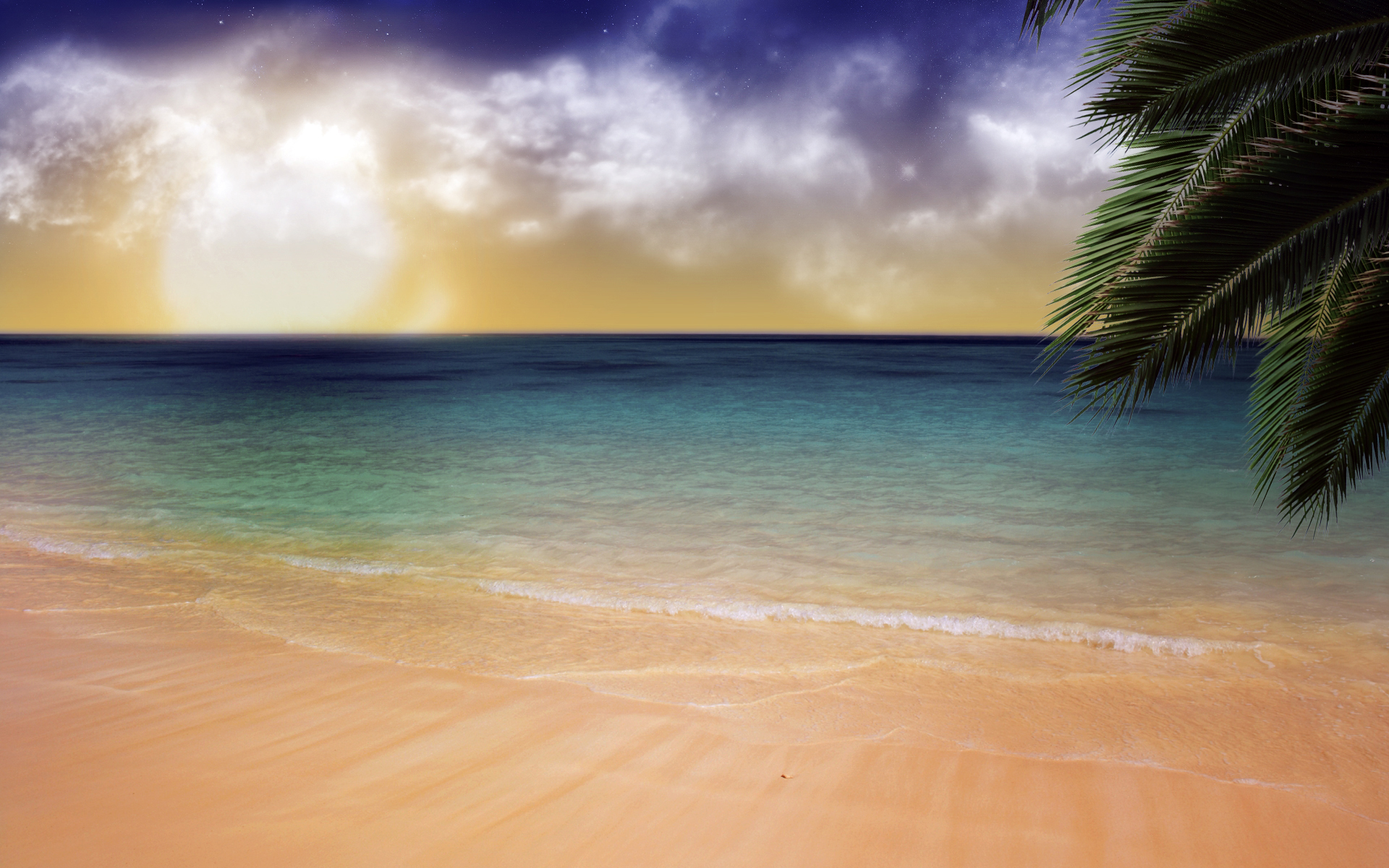 Earth - Ocean  - Water - Clouds - Beach - Earth - Artistic Wallpaper