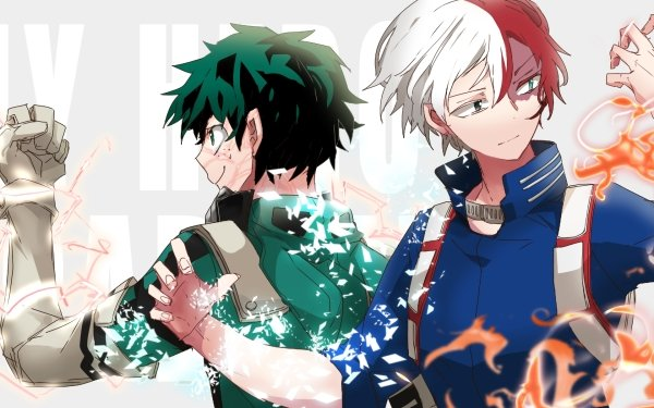 Anime My Hero Academia Shoto Todoroki Izuku Midoriya HD Wallpaper   Background Image