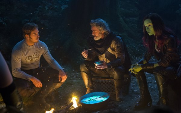 Movie Guardians of the Galaxy Vol. 2 Star Lord Chris Pratt Zoe Saldana Gamora Kurt Russell Ego HD Wallpaper | Background Image