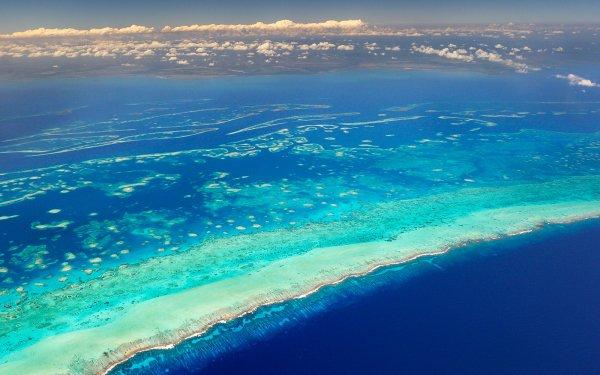 Earth Ocean Reef Mesoamerican Reef Belize Aerial Blue HD Wallpaper   Background Image
