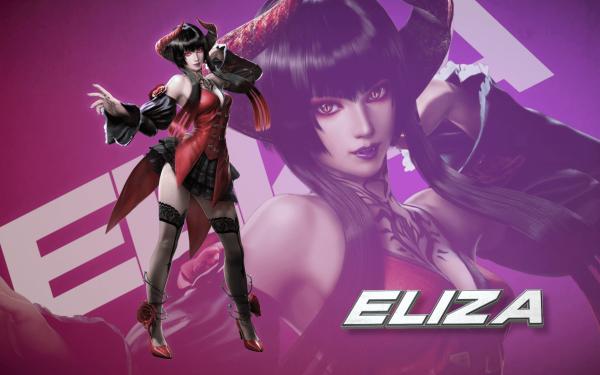 Video Game Tekken 7 Tekken Eliza Woman Skirt Long Hair Horns Thigh Highs High Heels Tattoo HD Wallpaper | Background Image