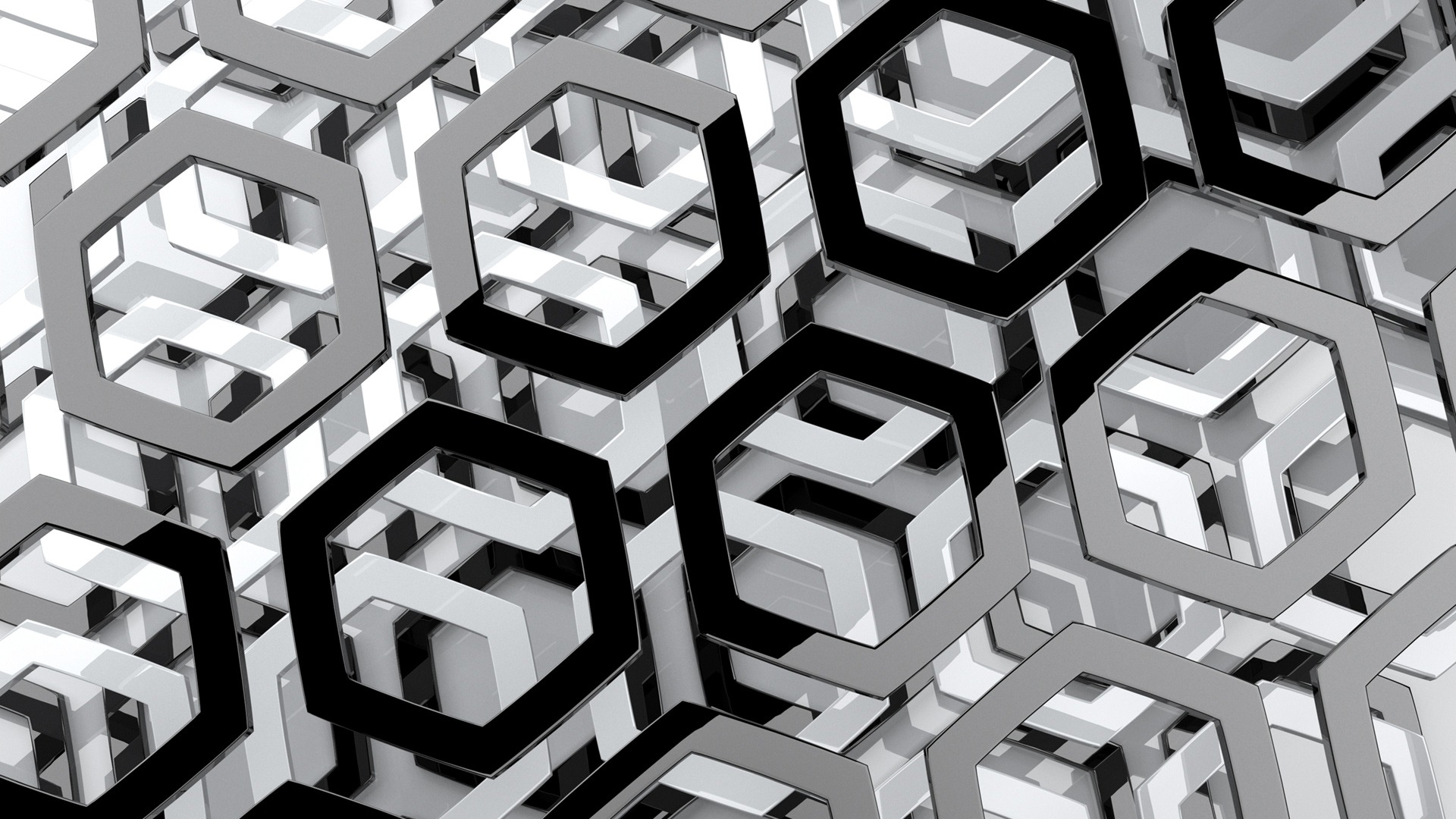 CGI - Artistic  CGI Hexagon Wallpaper