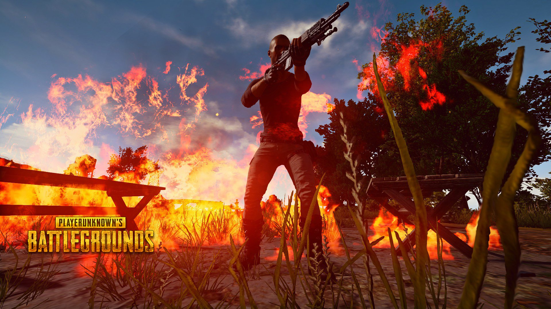 4k Playerunknowns Battlegrounds: Fire Battleground HD Wallpaper