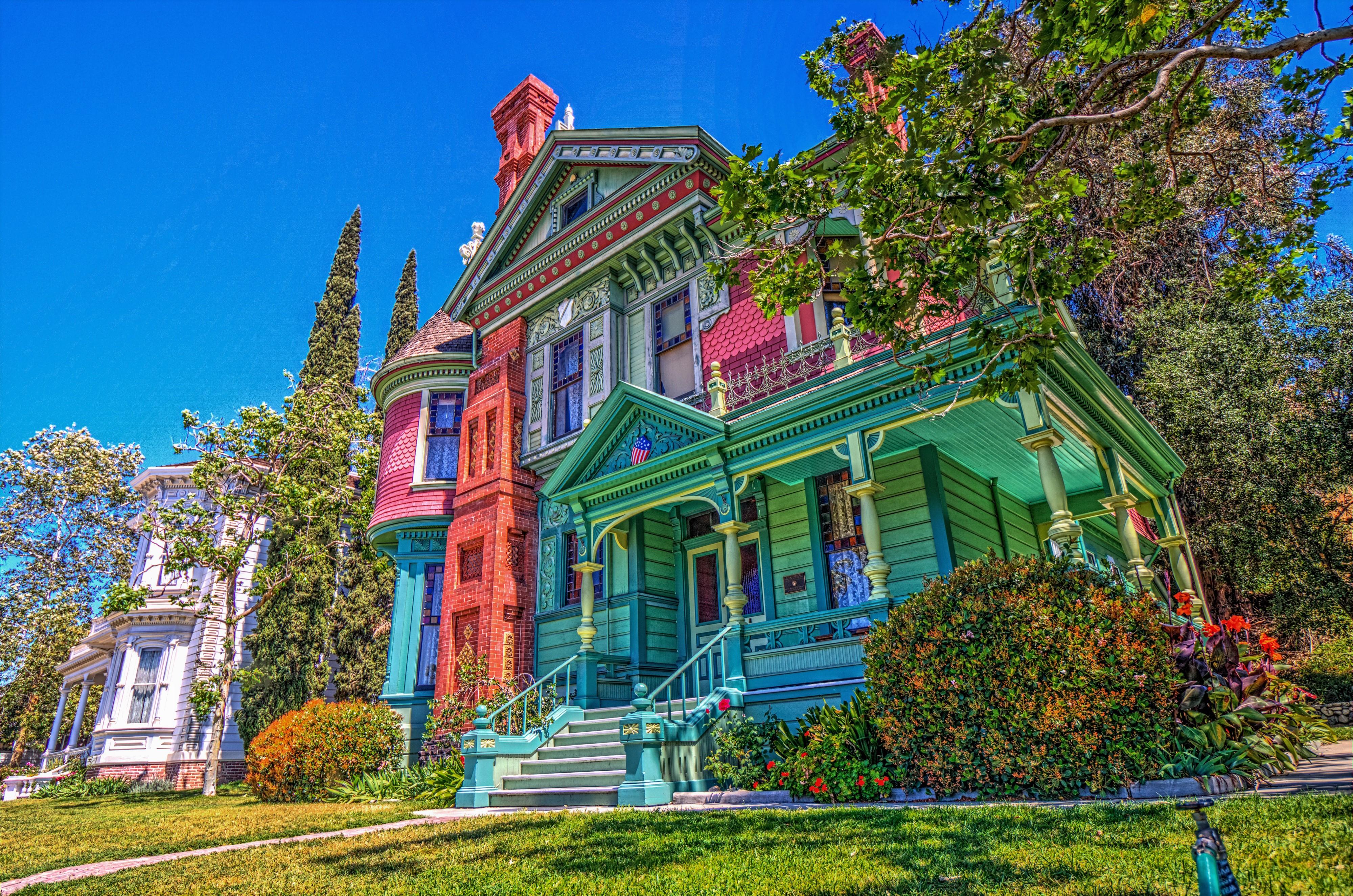 Colorful House In California 4k Ultra Fondo De Pantalla Hd