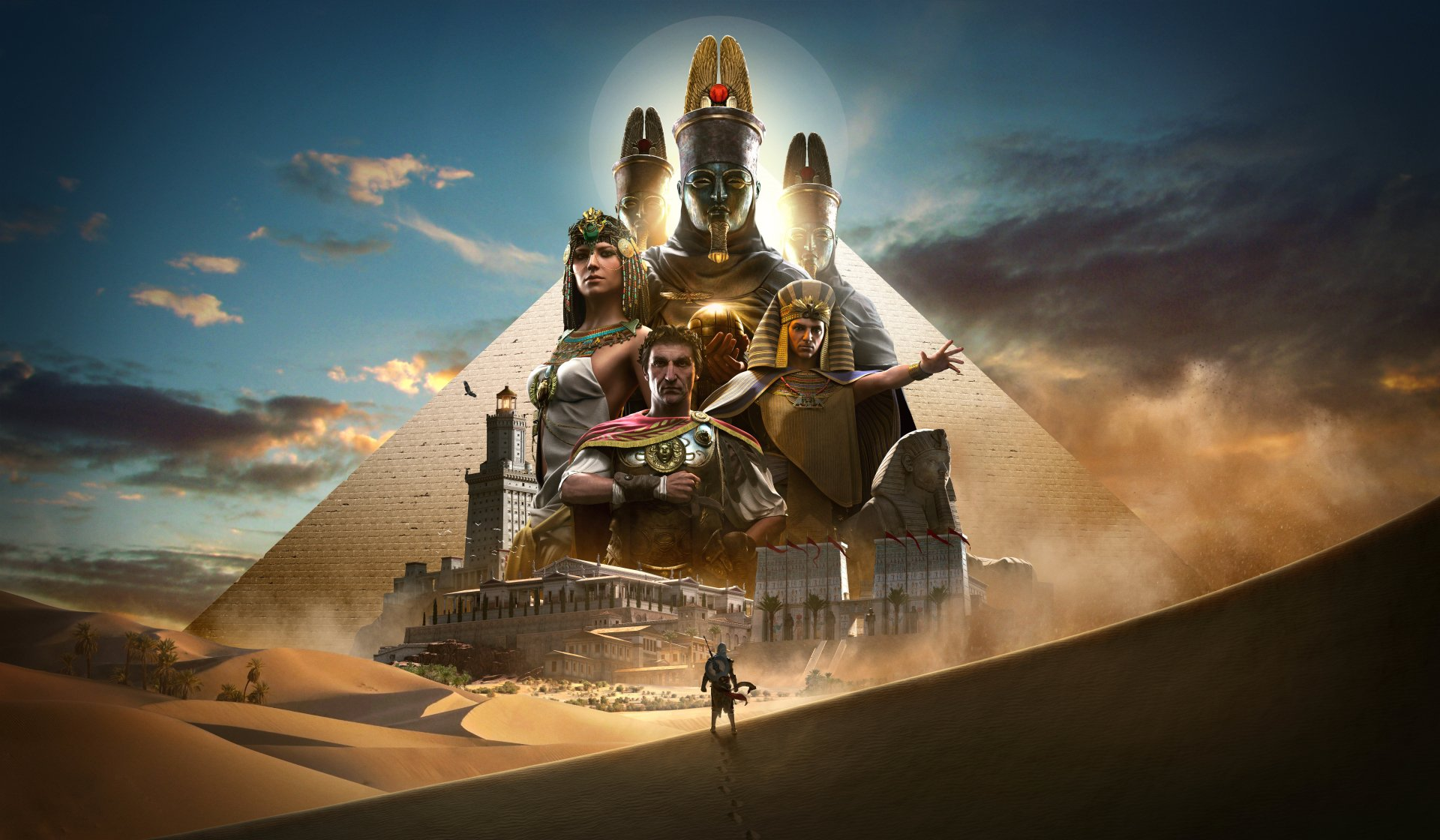 Video Game - Assassin's Creed Origins  Ptolemy XIII Cleopatra Julius Caesar Bayek Of Siwa Wallpaper